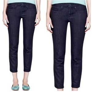Tory Burch cropped skinny jeans size 25 dark wash